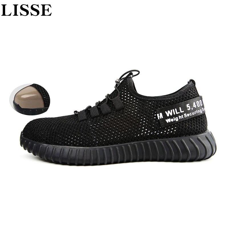 Zapatos De Ligeros Transpirables Finos Verano Para Nuevos Sandalias Hombre Trabajo Seguridad 4A3RjL5