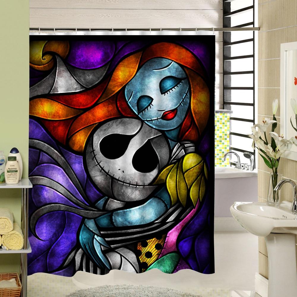 Waterproof 3D Halloween Shower Curtain Nightmare Before Christmas ...