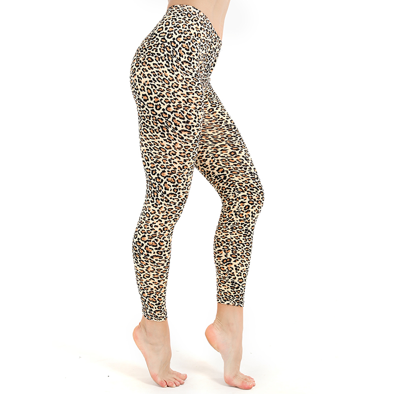 Summer Leopard Print Pants Casual Trousers Slim Fit Leisure High Waist WomanDigital Print Pants Trousers Stretch Pants