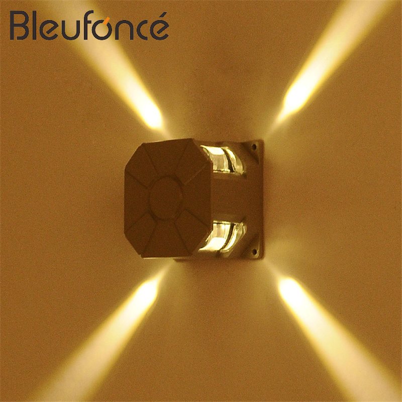 Led Lamps Wholesale Price Factory Hot Selling 4w Warm Cold White Led Wall Lamp Cross Star Light 4w Outdoor Wall Light Ac85~265v Lights & Lighting
