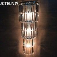 Luxurious LED crystal wall lamp corridor living room background wall lamp villa lobby wall lamp