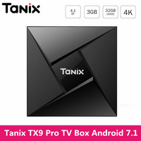Tanix TX9 Pro Android 7.1 TV Box Amlogic S912 Octa Core Bluetooth 3GB RAM 32GB ROM Smart TV Set Top Box IPTV Media Player