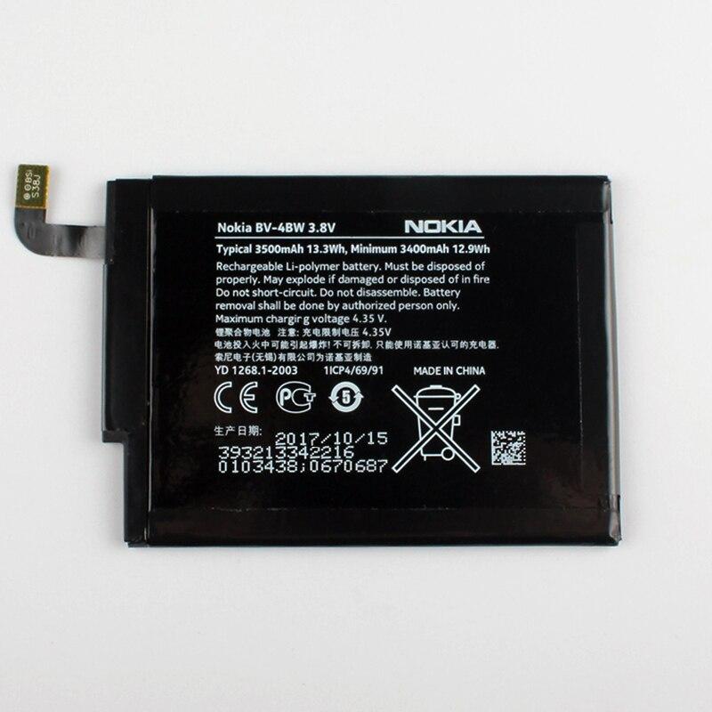 New Original Nokia BV-4BW téléphone batterie pour Nokia Lumia 1520 MARS Phablet RM-937 Bea Lumia1520 BV4BW 3500 mAh