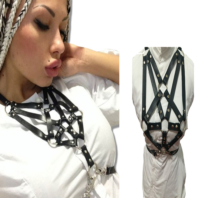 HARNESS For Women With Sexy Luxury Designer BELTS New Punk Rock Bondage Straps Fashion Women Belts Across Body For Free Shipping