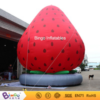 Customized 7M height giant inflatable strawberry decorative large blow up strawberry replica inflatable toys