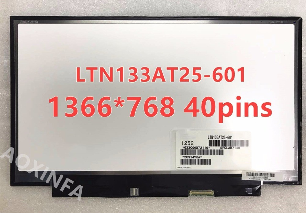 New original LTN133AT25 501 T01 601 LTN133AT25-601 LED original Display For Toshiba Z830 Z835 Z930 Z935 LCD Screen matrix toshiba portege z 830