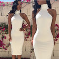 Fashion Women Sleeveless Bandage Bodycon fashion mini Skirts white  summer  elegant lady