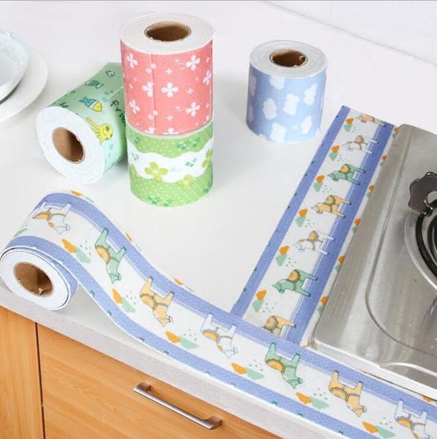 Mildew Waterproof wall stickerTape Corner Seams Bathroom Toilet Sealing Strip Stove Seal Protectors Sink Slit Wallpaper