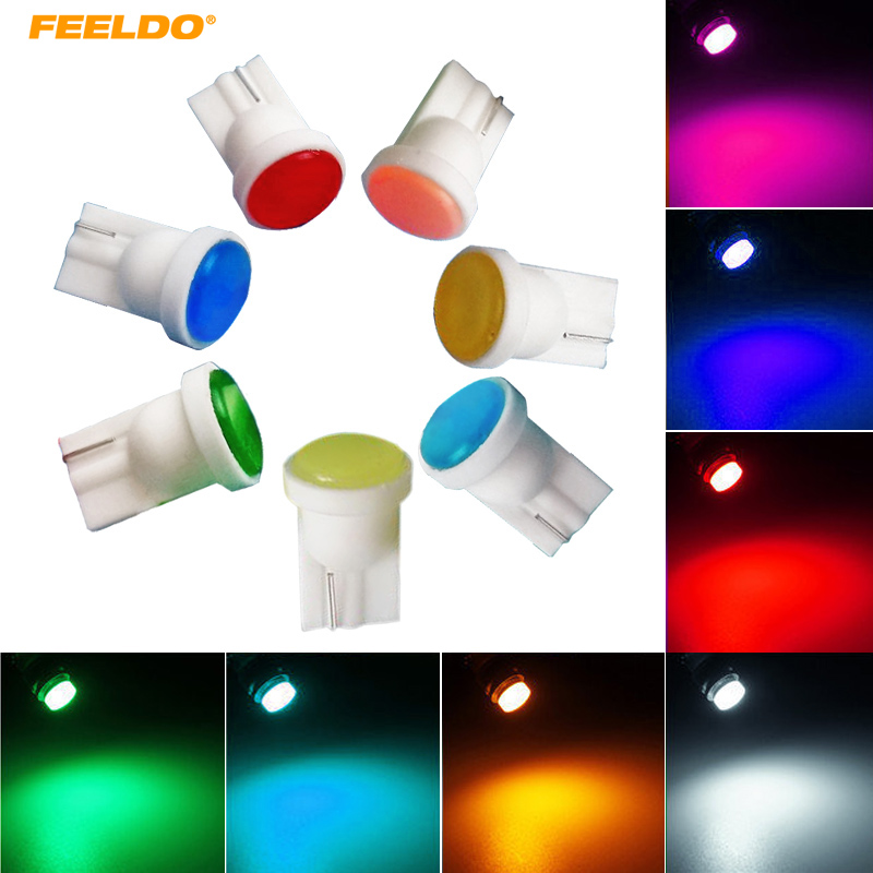 50Pcs T10 COB LED Light W5W 194 192 168 501 Wedge Car Interior Lamp Auto Door Side Bulb Source 12V Interior Bulb Lamp #FD-2904