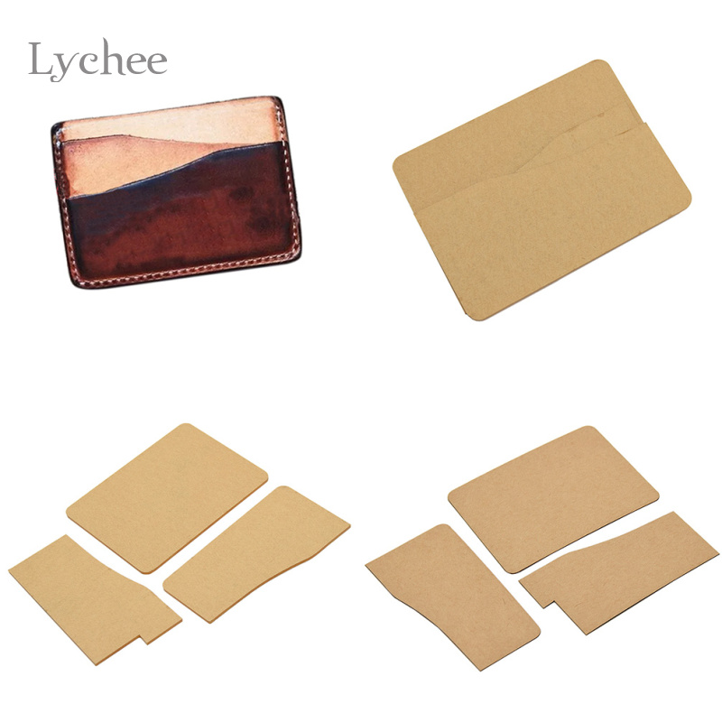 Lychee 1pc DIY Acrylic Leather Business Card Holder Template ...