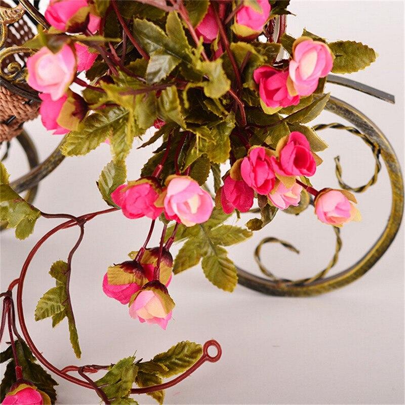 220 εκατοστά Fake Τριαντάφυλλα μετάξι Ivy - Προϊόντα για τις διακοπές και τα κόμματα - Φωτογραφία 2