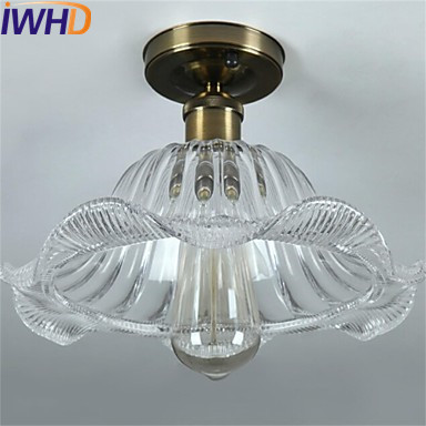 IWHD Glass Vintage Ceiling Light Fixtures Cafe Loft Industrial Ceiling Lamp Edison Home Lighting Living Room Lights rh loft edison industrial vintage style 1 light tea glass pendant ceiling lamp hotel hallway store club cafe beside