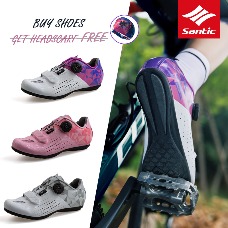 Santic Women Cycling Unlocked Shoes Reflective Road Bike Bicycle MTB Shoes Breathable Shoes Men Rubber Outsole EUR 39-45 LS18008Santic Women Cycling Unlocked Shoes Reflective Road Bike Bicycle MTB Shoes Breathable Shoes Men Rubber Outsole EUR 39-45 LS18008