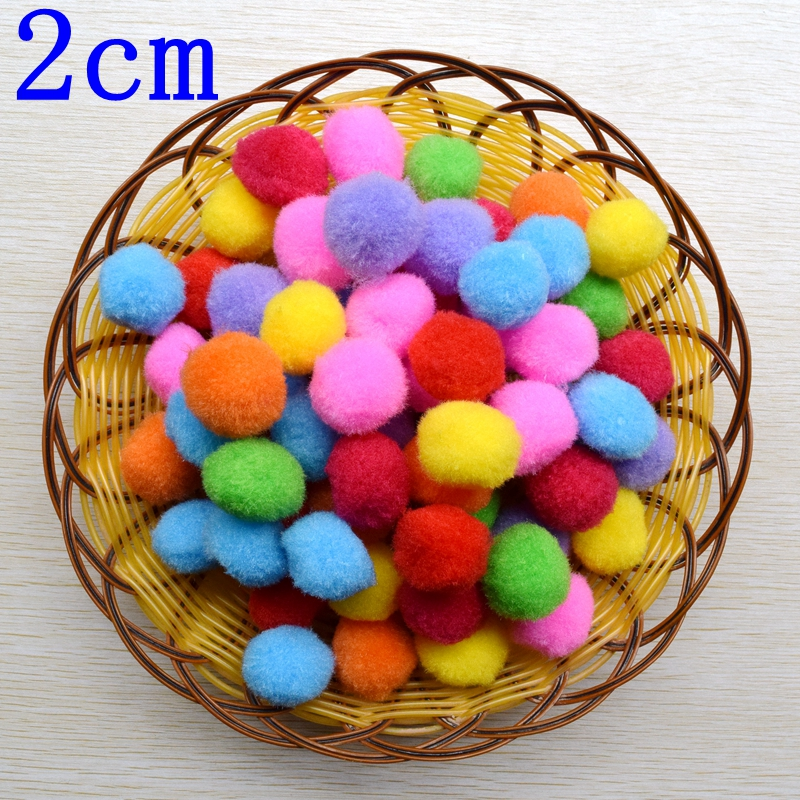 100PCS 20mm Wholesale mix color pompom fur Craft DIY Free Shipping Suitable for home decoration wedding 1001