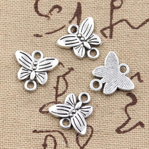 hroryn 15pcs Charms butterfly connector Jewelry