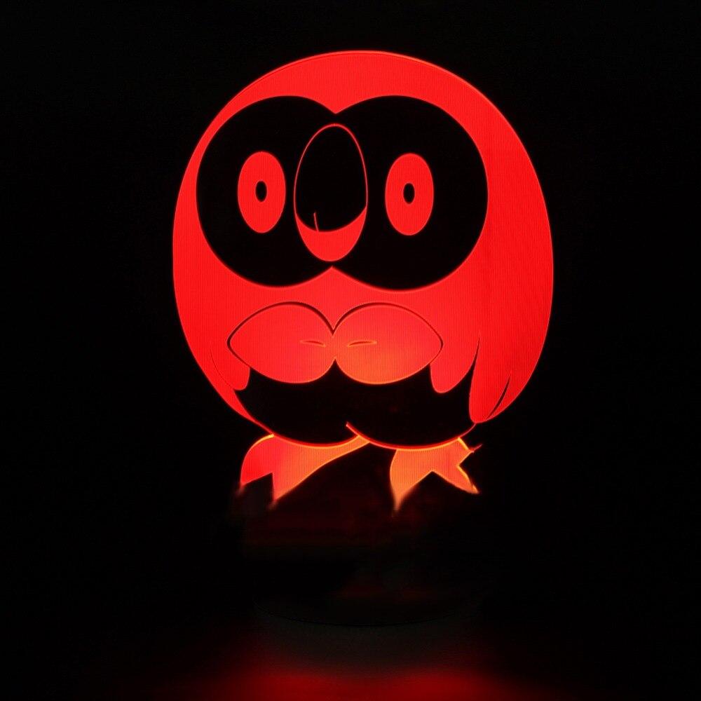 7 цветов изменения привели 3D интересная Сова Форма ночник дети креативного освещения мультфильм птица настольная лампа Home Decor Luminaria подарки