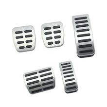 Stainless steel font b Car b font pedal Cover For Audi A3 For VW Polo 6N