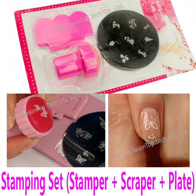 Stamping Plate Stamper with Scraper for Transfer Print Template Nail ...