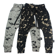 Children Cotton Trousers Nununu Harem Pants Splash/Brush Stroke/Half&Half Baggy Pants For Boys Girls Baby Kids Toddlers Clothes