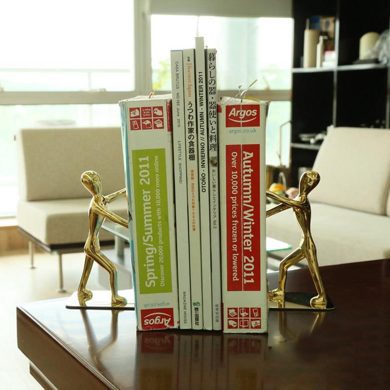 Innovative Office Supplies Stationery Fashionable Stainless Steel Humanoid Bookends Bookends School Supplies Office Accessories цена