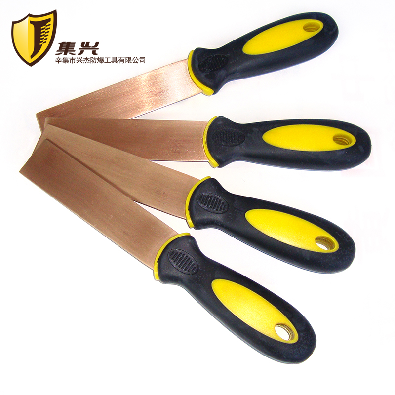 Beryllium Bronze Putty Knife With Rubber Handles,Explosion-proof Antimagnetic Tools,Thickness 1.5 Mm