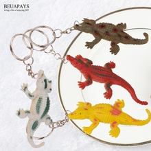 Wholesale free shipping 300pcs Figurines Miniatures Plastic crocodile simulates decoration DIY key chain party favors