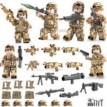 Figuras de tropas misteriosas Varias fuerzas especiales Explosión de explosiones Varias armas compatibles compatibles Legoinglys Modelo de bloques militares