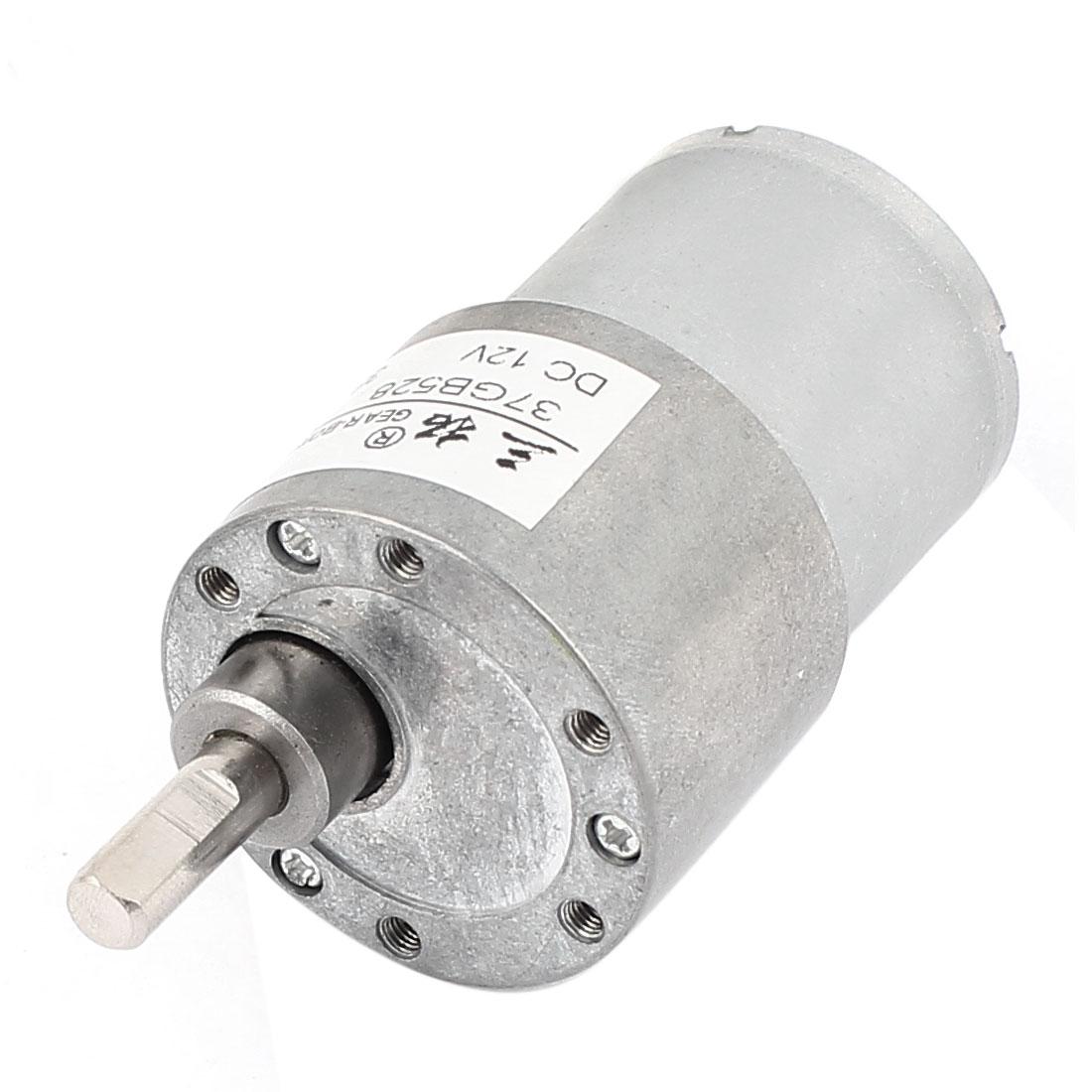 Shaft diameter 6mm x 16mm dc12v 38rpm high torque dc gear for Variable speed gear motor