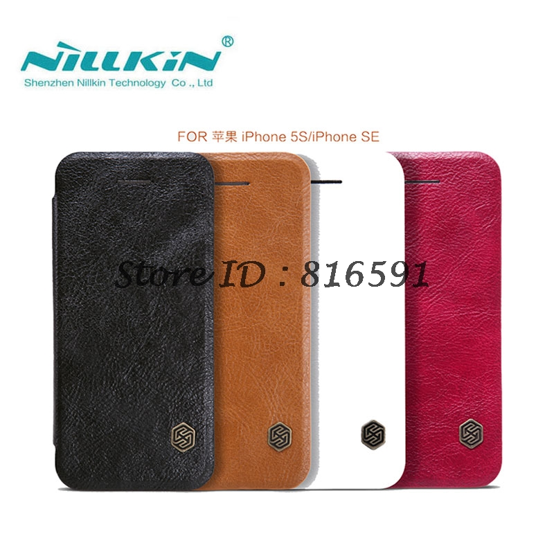 NILLKIN Flip Case For iPhone 5S SE Qin Series PU Leather Cover sFor iPhone 5S Case Cover 4.0 inch