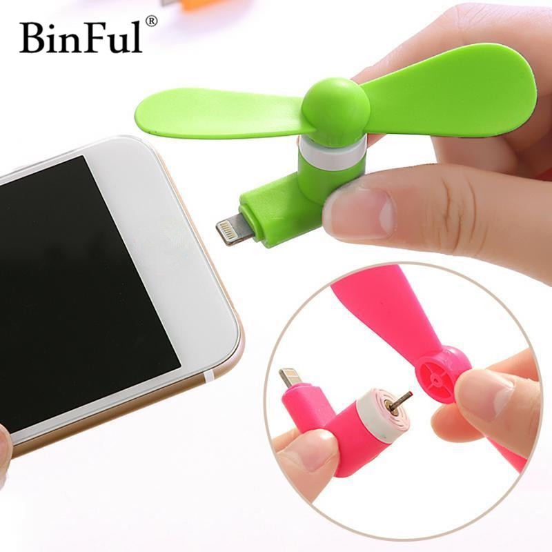 BinFul USB Fan Portable gadget Phone Mini Electric Fan Cooler For iphone 5 5s 6 6s plus 7 Plus More USB gadgets Mobile Phone binful 100% tested mini 2 in 1 portable micro usb fan for iphone 5 6 hand fan for samsung htc android otg smartphones usb gadget