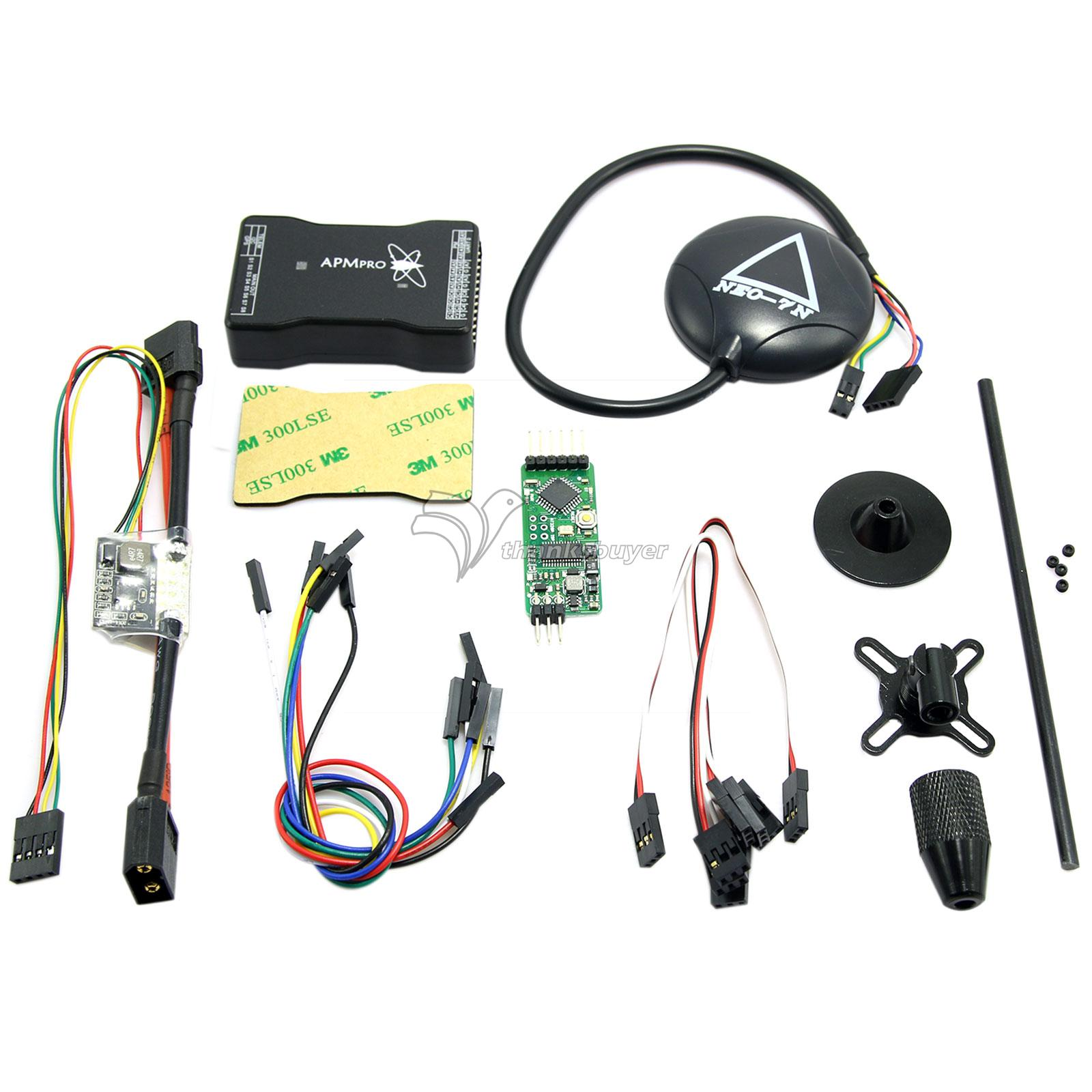 Mini APM Pro Flight Control Opensource Hardware with Neo-7N GPS & Power Module & Mini OSD for Multicopter Aircraft free shipping neo 6m ublox u blox gps module for mwc aeroquad flight control board