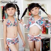 Из двух частей Плавание костюм Плавательные костюмы для детей девочка дети ребенок Плавание одежда для детей милый Плавание костюмы три ко...