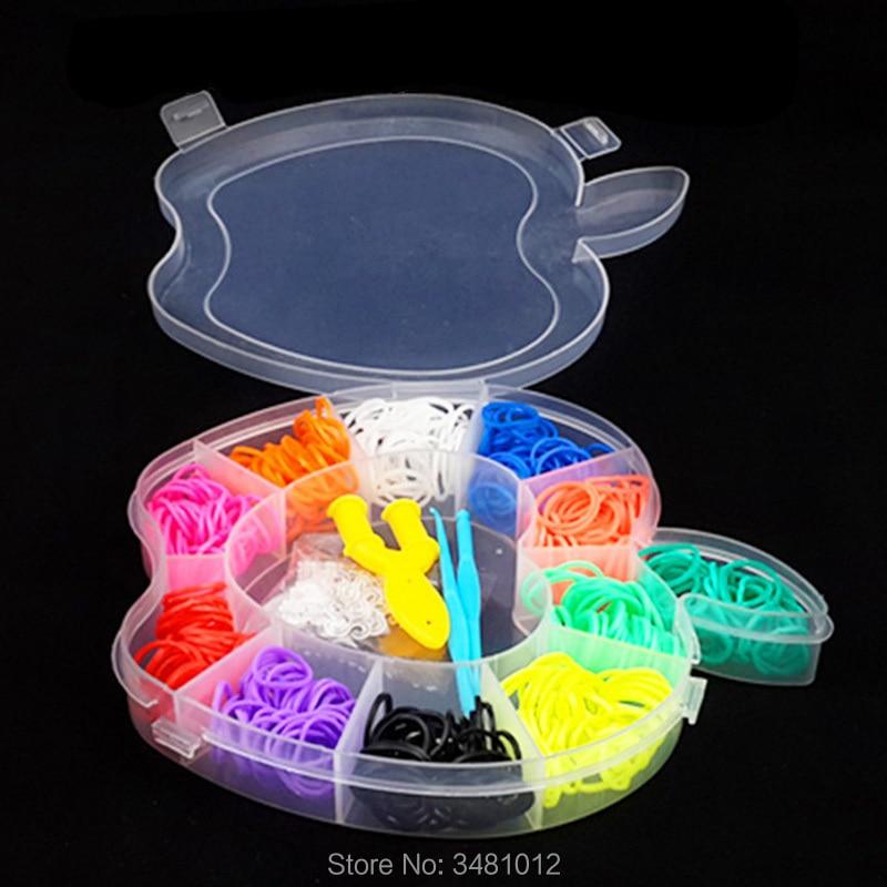 Rubber Loom Bands Weaving Braided Tool DIY Charm Kit Box Kids Handmade Plaiting Gum Creativity Toys For Bracelet Children Girls