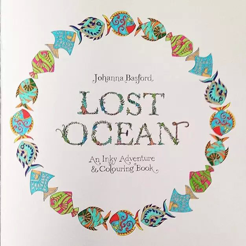 Aliexpress Buy Secret Garden Animal Kingdom Lost Ocean ENGLISH 24 Color Pencils Adult Hand Drawn Relieve Stress Graffiti Painting Drawing Book From