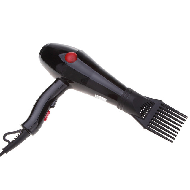 Black Professional Dryer Nozzle Hairdressing Salon Hair Diffuser Collecting Wind Comb Hot