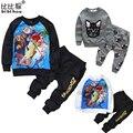 2-6yrsKids Одежда Baby Boy Девушки Одежда Набор Мультфильм Минни детская одежда Хлопка Случайные Костюмы для Малышей Одежда Спортивный Костюм