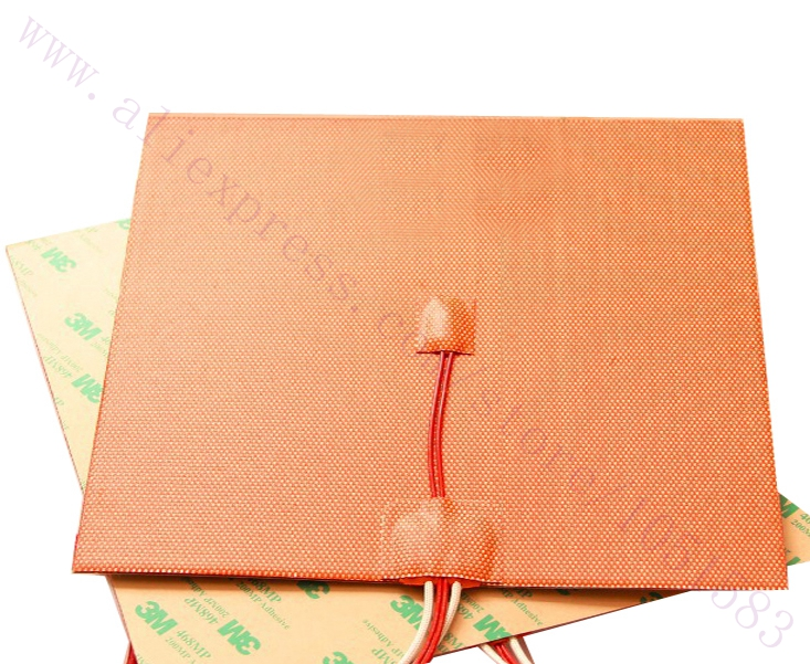 USA Material 300X200mm Flexible Silicone Heater 600W 220V 110V w Thermistor Silicone Heater 3D Printer Heated