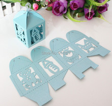 AVEBIEN 24pcs laser Cute Baby Shower Candy Box Event Party Supplies Decoration Bear Paper Baptism Favors Gift Sweet Birthday Bag