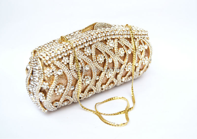 Golden Luxury crystal evening bag women prom clutch bag party pochette  women diamante clutches wedding handbags day Clutch SC111-in Top-Handle Bags  from ... 61b21c33fdd1