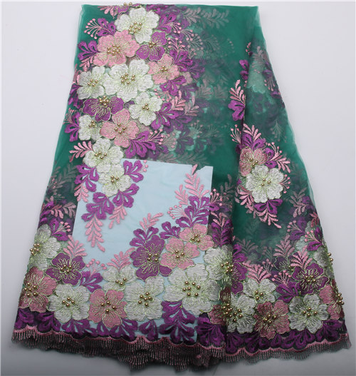 2017 Latest African Tulle Lace High Quality French Lace Fabric For