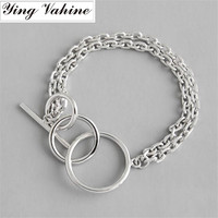 ying Vahine 925 Sterling Silver Geometric Element Individual Chain and Link Bracelets for Women Bracelet Femme pulseras armband