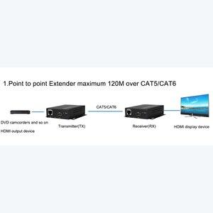 Image 5 - Cat5e/Cat6 UTP 케이블을 통한 HDMI 익스텐더 송신기 수신기 RJ45 LAN 이더넷 지원 1080P