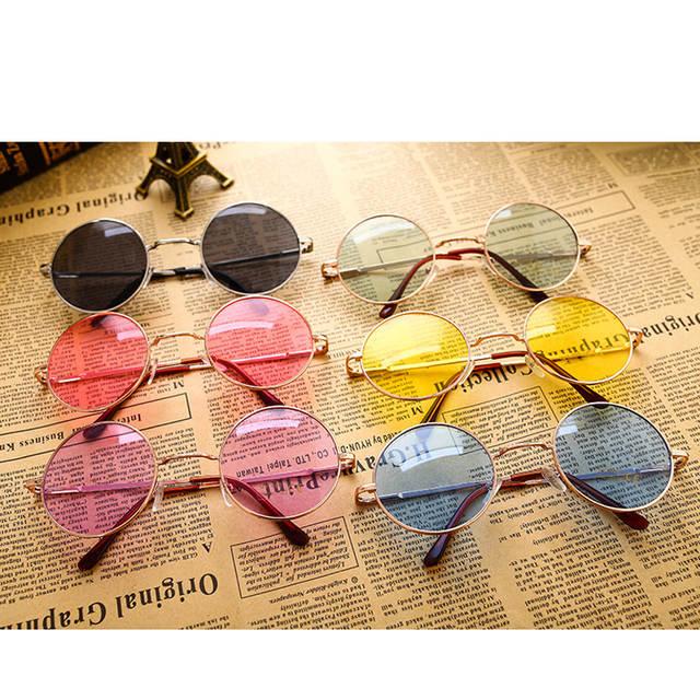 80ce4127c264b Pro Acme 60 s Lennon Hippie Retro Rodada Óculos De Sol Das Mulheres  Designer de Marca
