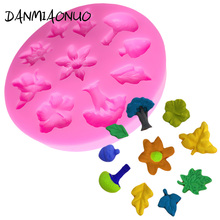 DANMIAONUO Mini Leaf Shape Silicone Mold Cake Lace Fondant Wedding Stand Baking Decorations A312076