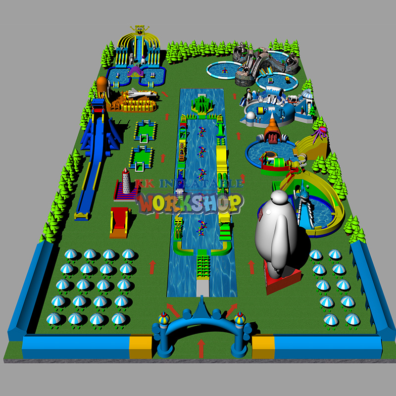 China The Landscape Giant Inflatable Pool Park Project