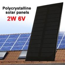 Painel solar durável 2w 6v, luz solar gerador durável, saída dc exterior, painel à prova dágua