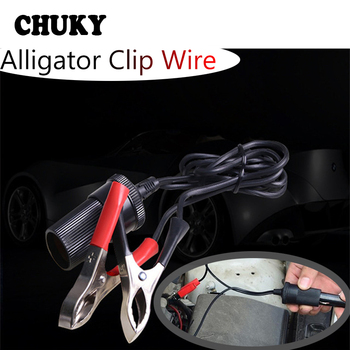 CHUKY Car Alligator Clip Cable Battery Car Cigarette Lighter Interface For Ford Focus 2 3 Fiesta Mondeo Kuga Kia Rio Ceed Accord image