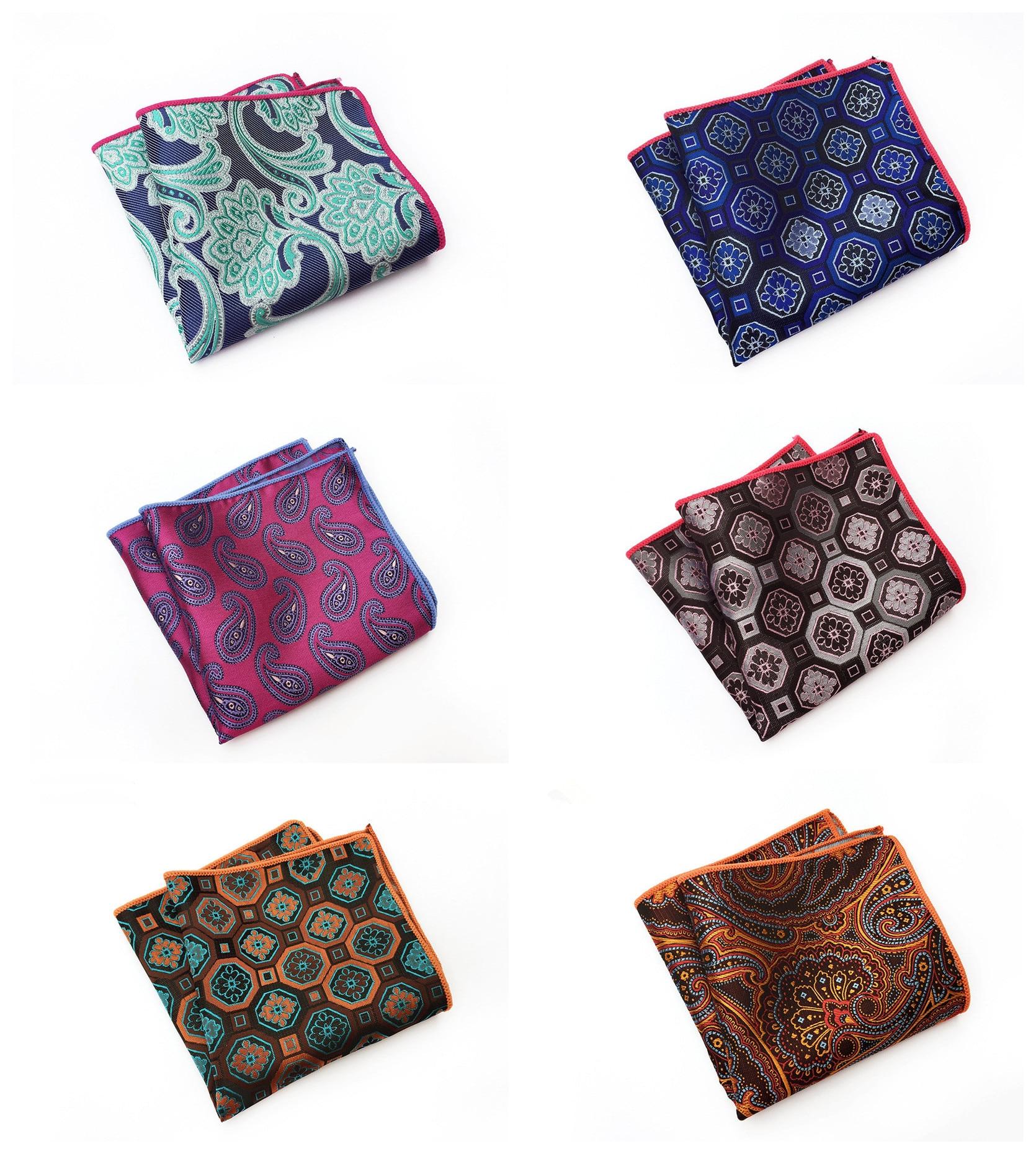 2020 Fashion Explosion Business Suit Dress Pocket Towel 9 Color Combination Unique Design Quality Paisley Polyester Pocket Towel