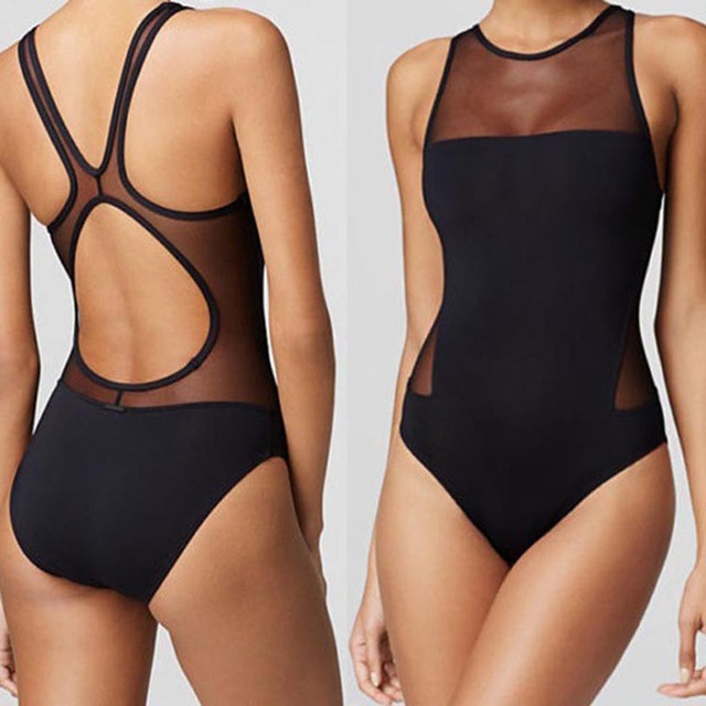 swimming One-Piece Suits Siamese Swimsuit sexy triangle swimsuit sexy youth  girls Siamese Strip steel support No bra 4ccaec967