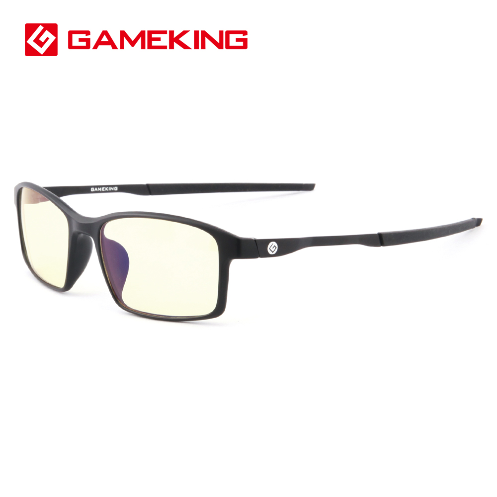 4a3d2584fc86 GameKing Blue Light Blocking Computer Glasses Anti-blue Rays Anti-glare Eye  Protection Gaming Glasses with Amber Tint Lens 8001
